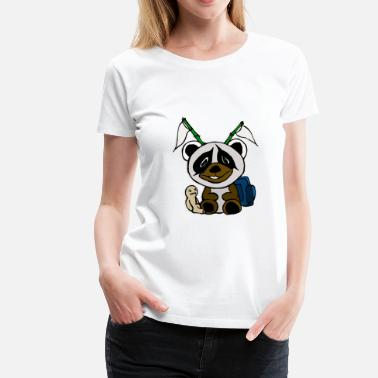 Panda Teddy Panda Comic Abstract Animal Teddy Bear Kids - Women's Premium T-Shirt
