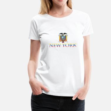 Ecuador New York Ecuador Pride Flag - Women's Premium T-Shirt