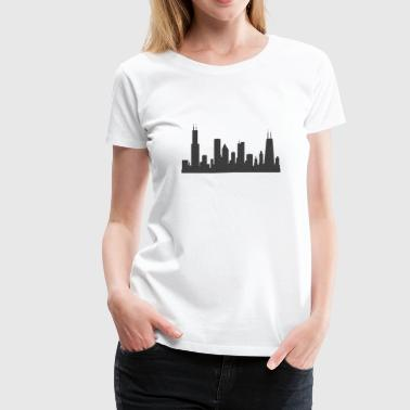 Chi Chicago Skyline Silhouette  - Women's Premium T-Shirt