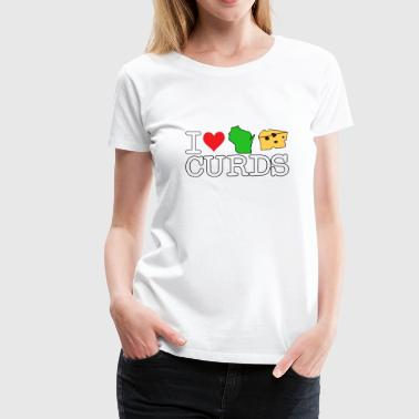 I Love Heart Wisconsin Cheese Curds - Women's Premium T-Shirt
