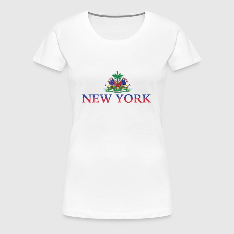 New York Haiti Flag Haitian Pride - Women's Premium T-Shirt