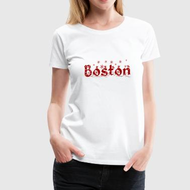 Cute Holiday Christmas Boston - Women's Premium T-Shirt
