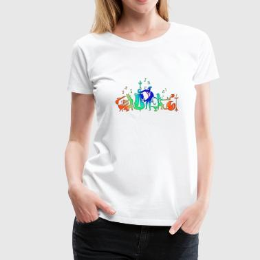 Colorful Jazz Band - Women's Premium T-Shirt