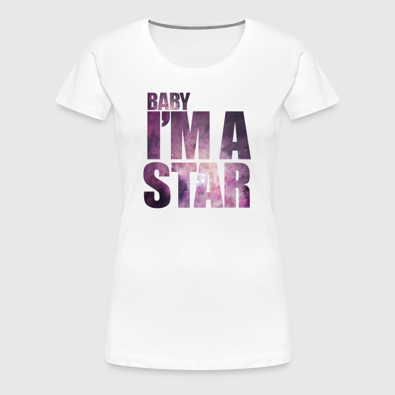 baby Im a star! with hipster starfield - Women's Premium T-Shirt