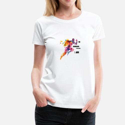 Birthday Present For Runners I Run Therefore Am Womens Premium T