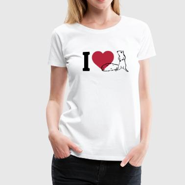 I love Squirrels - Women's Premium T-Shirt