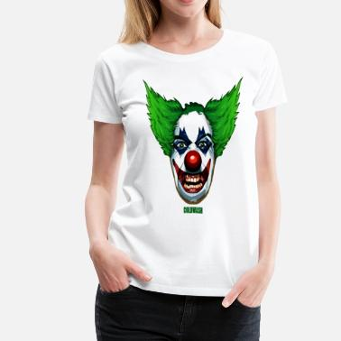 Gangster Clown EVIL CLOWN - Women's Premium T-Shirt