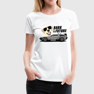 Bark Back To The Future - Golden Retriever goes McFly - Women's Premium T-Shirt