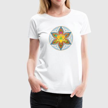 Flower of Life, Merkaba, Chakras, Metatron - Women's Premium T-Shirt