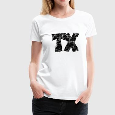 TX Texas Design Vintage Black - Women's Premium T-Shirt