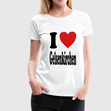 Gelsenkirchen I love Gelsenkirchen (variable colors!) - Women's Premium T-Shirt