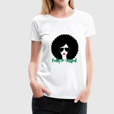 Afro fabulous travel t shirt - Women's Premium T-Shirt