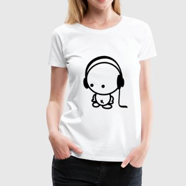 headphones boy - Women's Premium T-Shirt