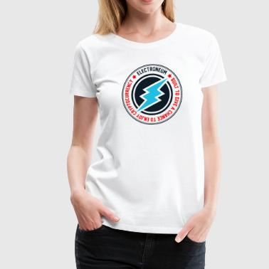 New Electroneum Logo Wording ETN - Women's Premium T-Shirt