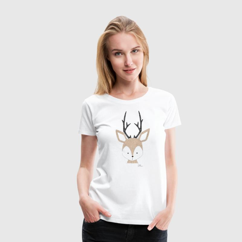 Cute Deer - Women's Premium T-Shirt