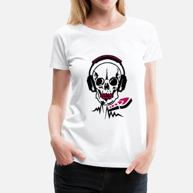 Death Audio dj headphone audio skull equalizer death - Women's Premium T-Shirt
