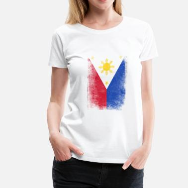 Filipino Vintage Philippines Flag Proud Filipino Vintage Distressed - Women's Premium T-Shirt