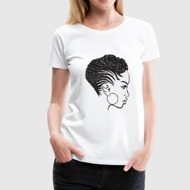 Black Woman Braids Dreads Nubian Princess Queen - Women's Premium T-Shirt