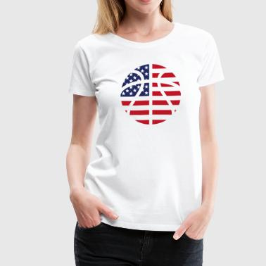 American Basketball Flag - Women's Premium T-Shirt