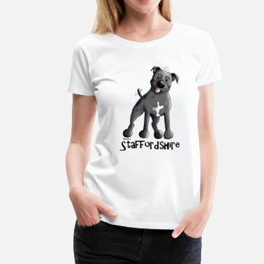 Staffordshire Happy Staffordshire Bull Terrier - Women's Premium T-Shirt