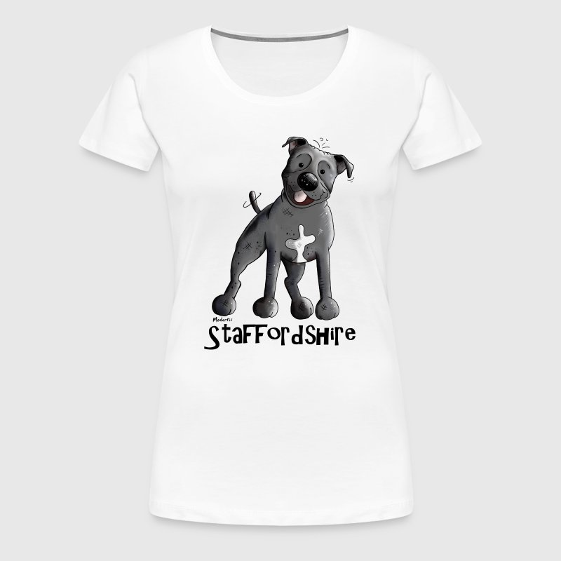 Happy Staffordshire Bull Terrier - Women's Premium T-Shirt