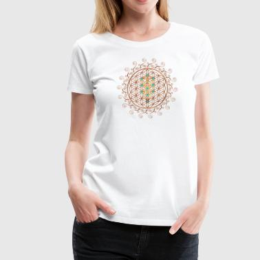 Flower of Life, Sephiroth, Kabbalah, Tree of Life - Women's Premium T-Shirt