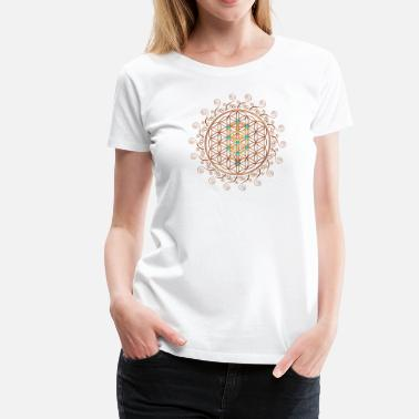 Kabbalah Flower of Life, Sephiroth, Kabbalah, Tree of Life - Women's Premium T-Shirt