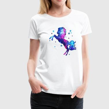 Space Horse, cosmos, universe, space, galactic - Women's Premium T-Shirt