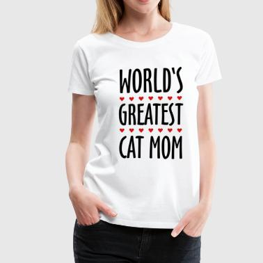 Worlds Greatest Mum world's greatest cat mom - Women's Premium T-Shirt