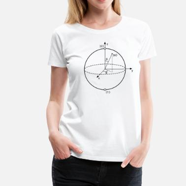 Binary Numeral System Bloch Sphere - Women's Premium T-Shirt