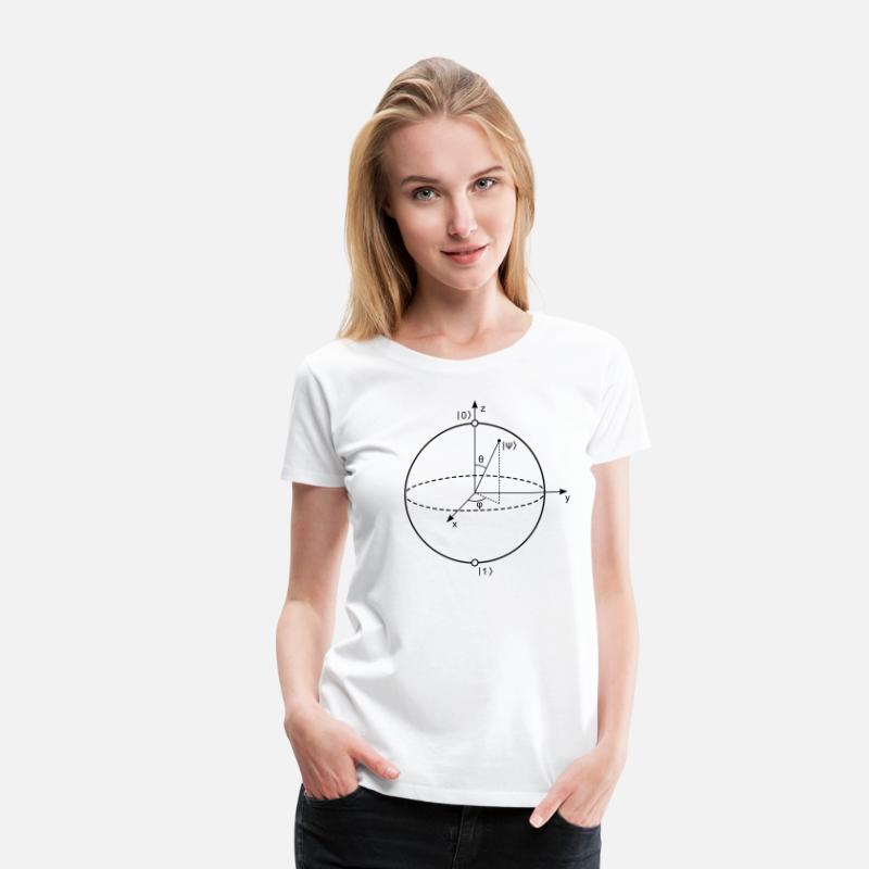 Cool T-Shirts - Bloch Sphere - Women's Premium T-Shirt white