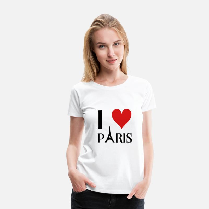 France T-Shirts - I love Paris - Women's Premium T-Shirt white
