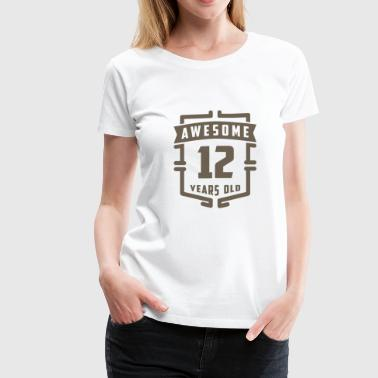 Awesome 12 Years Old - Women's Premium T-Shirt