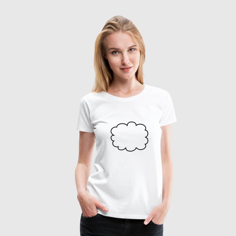 Cloud, speech bubble - Women's Premium T-Shirt