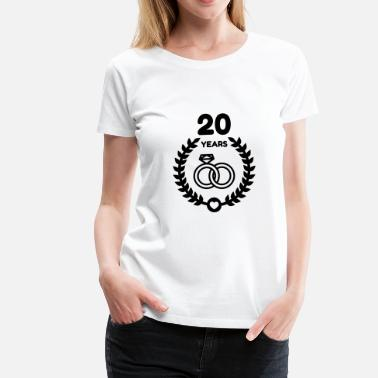 20th Wedding Anniversary Marriage Mariage Wedding Anniversary 20 20th China - Women's Premium T-Shirt