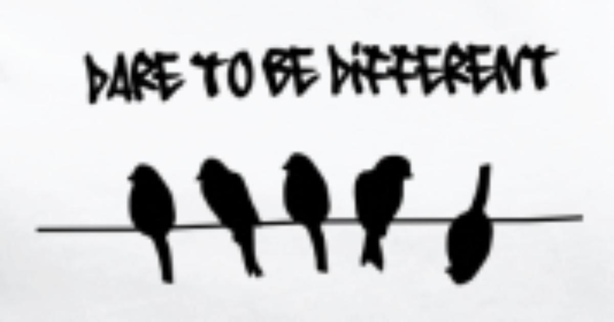 dare to be different birds on a wire by inspirationz