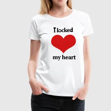 i_locked_my_heart_i_found_the_key_left - Women's Premium T-Shirt