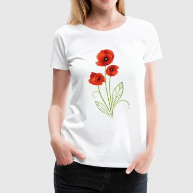 Poppy Flower Summer Flower. Red Poppies Flower. - Women's Premium T-Shirt
