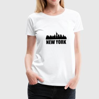 New York NY Skyline - Women's Premium T-Shirt