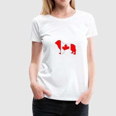 Canada Flag - Newfoundland Dog - Women's Premium T-Shirt