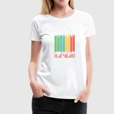 Retro Honolulu Hawaii Skyline - Women's Premium T-Shirt