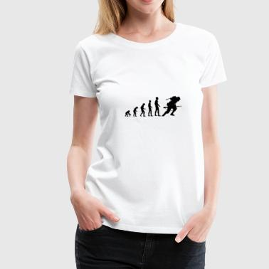Evolution Evolution World war - Women's Premium T-Shirt