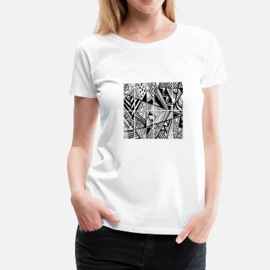 Trippy Art TRIPPY ART RETRO BLACK AND WHITE - Women's Premium T-Shirt