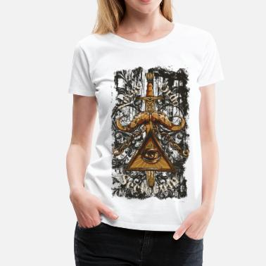 Mythical NOVUS ORDO SECLORUM - new order of the ages eye - Women's Premium T-Shirt