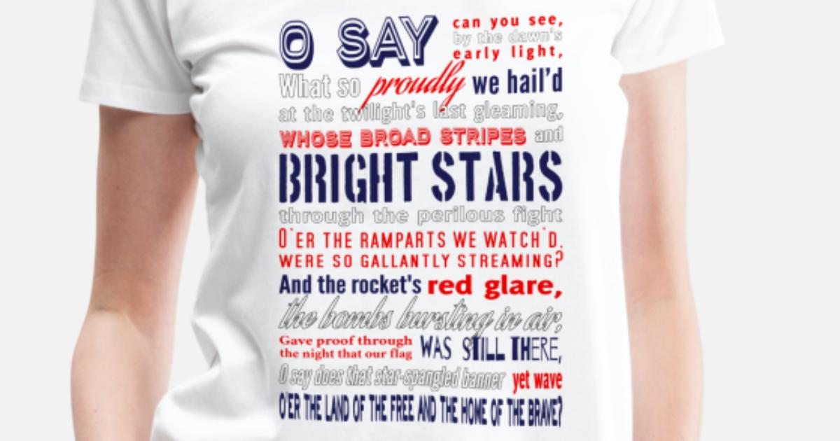9fe6df3a The Star-Spangled Banner Women's Premium T-Shirt | Spreadshirt