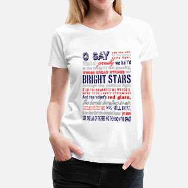 Banner The Star-Spangled Banner - Women's Premium T-Shirt