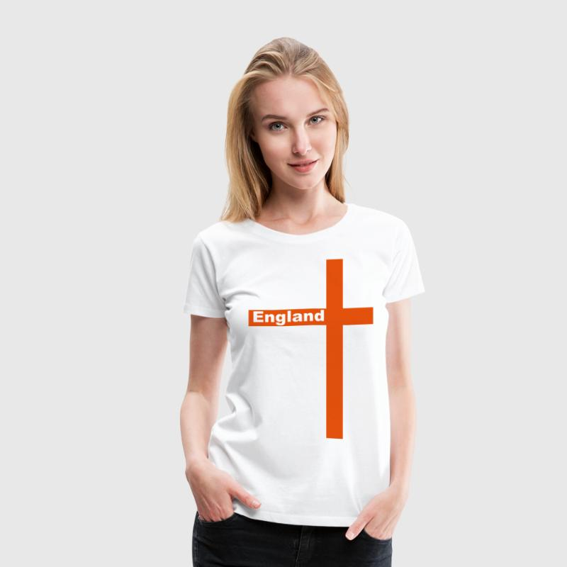 England Cross of St George - Women's Premium T-Shirt