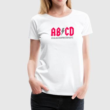 Cartoon Parody Abcde Parody - Women's Premium T-Shirt