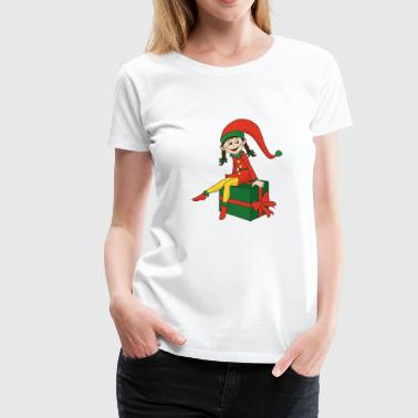 Ugly Funny Cool Cute Christmas Elf Elves Xmas Gifts - Women's Premium T-Shirt