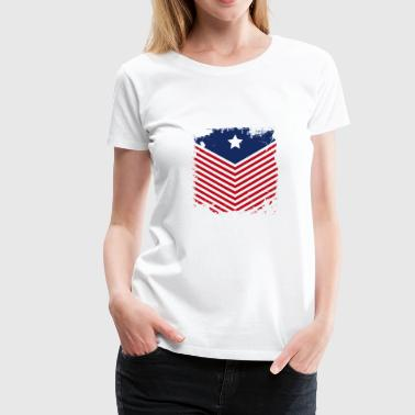 USA Flag Vintage - Women's Premium T-Shirt